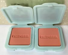 Lot (2) Benefit Travel Size Galifornia Sunny Golden-Pink Blush 0.05 oz Each Mini