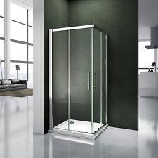 120x90x185cm Porte coulissante Paroi de douche Accès d'angle verre sécurité 6mm