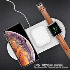 3 In 1 Qi Wireless Charger Fast Charging Pad For Apple iWatch iPhone X/8 EarPods