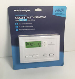 White-Rodgers Programmable Single Stage Thermostat with 5-1-1 Scheduling P210