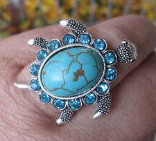 Silver Plated Turtle Ring Adjustable Sizing