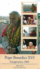 Gambia 2013 MNH Papal Retrospective Pope Benedict XVI Inauguration 2005 4v M/S