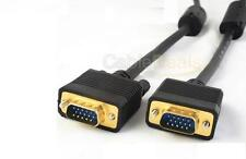 5M VGA SVGA 15 PIN CABLE PC TO TFT MONITOR LCD TV LEAD WITH FERRITE CORES UK
