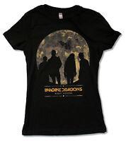 Imagine Dragons Night Visions Tour 2013 Nc Nv Girls Juniors Black T Shirt New