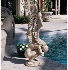 """Large 30.5"""" Elegant Emotional Angel Statue Garden Winged Sculpture"""