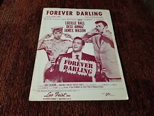 FOREVER DARLING Lucille Ball Desi Arnaz MGM Movie Sheet Music 1955 I Love Lucy