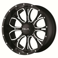 "22"" Black Wheels Rims LIFTED Chevy GMC Dodge RAM 8 Lug Helo HE879 HE87922080324N"
