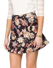 Brand New Love Zalora Black Peplum Floral Skirt Size M