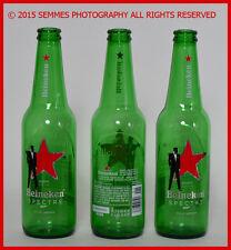007 Spectre Heineken Beer Bottles 12 oz Green Glass