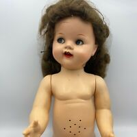 "Vintage 1950s 22"" Saucy Walker Flirty Eye Doll By Ideal With Clothing"