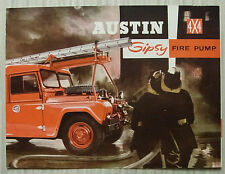 AUSTIN GIPSY 4x4 FIRE PUMP VEHICLE Sales Brochure c1965 #2149/A