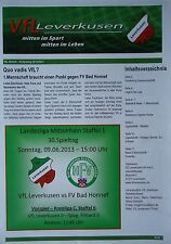 Programm 2012/13 VfL Leverkusen - FV Bad Honnef