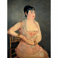 Edouard Manet Lady In Pink Large Canvas Art Print
