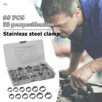 90 pcs 5.3-22.6mm Single Ear Plus Hydraulic Hose Clamps O-Clips Pipe Fuel Air CI