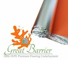 GREAT BARRIER Laminate Flooring Underlayment Orange 3mm IXPE -Top Quality 100 SF