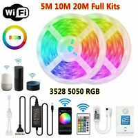 5M 10M 20M 5050 3528 RGB LED Strip Light WiFi/Bluetooth/Music Control