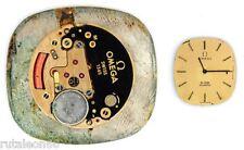 OMEGA  1365  original quartz watch movement  for parts / repair  (4216)