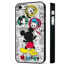 Mickey Mouse Donald Goofey Disney BLACK PHONE CASE COVER fits iPHONE
