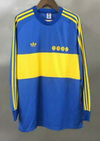 Boca juniors 1981 Long sleeve Home Maradona 10 Retro Soccer Jersey Football