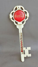 1950s Coca Cola KEY THERMOMETER with Red Button   sign