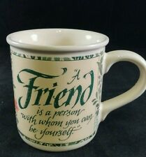Designers Collection American Greetings Stoneware Coffee/Tea Mug  A Friend Is