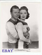 Mickey Rooney Beverly Tyler busty VINTAGE Photo