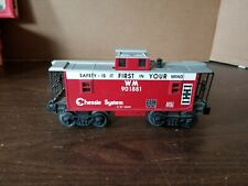 Lionel WM Chessie Train Car O27 Scale Lights Red 901881 Safety System