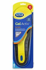 Scholl Active Work Gel Insoles for Men Work NEW FREE P&P