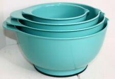 Kitchenaid Set of 4 Mixing Bowls TURQUOISE Non Slip Base 1.5 3.5 4.5 5.5 Quart