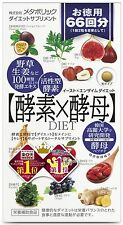 JAPANESE METABOLIC Yeast & Enzyme Dietary Supplements - 132 Tablets