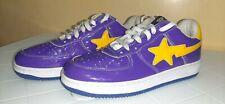BapeSta Rare Purple/Yellow Lakers low Size us10 ( FREE SHIPPING )