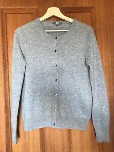 Cashmere cardigan size medium light grey Uniqlo