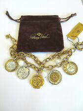 PATRICIA NASH RUSSIAN GOLD WORLD COIN CHARM BRACELET $49