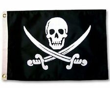 5x8 ft Jolly Roger Calico Jack Pirate Flag Rough Tex Knitted 5'x8' large banner