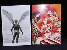 2 vintage photo postcards Vladimir with Wings from behind, girls and lollipop
