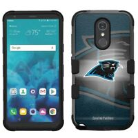 for LG Stylo 4 Armor Impact Hybrid Cover Case Carolina Panthers #BG