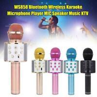 Wireless Bluetooth Karaoke Microphone Handheld Mic Speaker Home KTV Player US