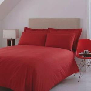 Chilli Red Double Size Bed Duvet Quilt Cover Set 200 TC Percale