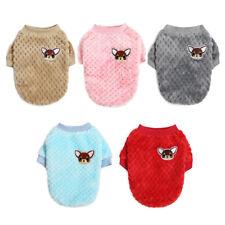 Warm Fleece Small Pet Dog Sweater Jacket Clothes Cute Cartoon Puppy Cat Coat New