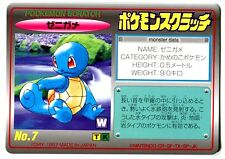 Promo Pokemon Japanese Tomy Card (1997) N°7 Squirtle Squirtle
