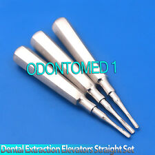 Elevators Straight Tip 2mm 3mm 4mm Dental Extraction Surgical 3 Pcs Instruments