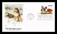 Dr Jim Stamps Us Alaskan Malamute Collie Dogs Unsealed Fdc Cover Fleetwood