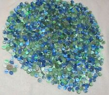 Blue, Green & Clear Glass Gems mix- 6 plus pounds of flat back marbles