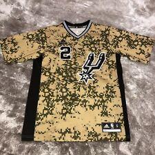 Adidas NBA San Antonio SPURS #2 Kawhi LEONARD Desert Digital Camo Jersey Shirt S