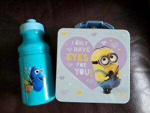 Disney FINDING DORY Beverage 17oz Bottle & Sandwich Tin Container School Travel