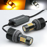 CANBUS Error Free White/Amber 7443 LED DRL Switchback Turn Signal Light Bulbs