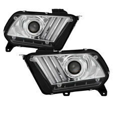 10-12 Mustang LED Sequential Turn Signal Projector Headlights Factory HID Model