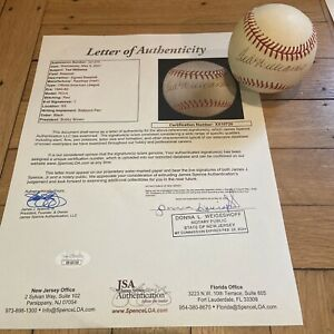 + Ted Williams Sweet Spot Signed Baseball Bold Autograph JSA COA