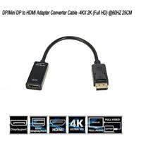1PC 1080P 4K DP Display Port Male To HDMI Female Cable Converter Adapter