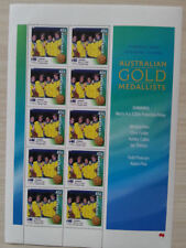 OLYMPIC 2000 GOLD MEDAL STAMP SHEETS100mt.SWIMMING RELAY  NEW.